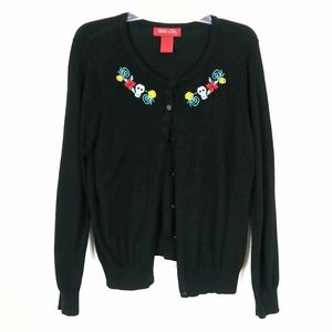 Back to Life Day of the Dead Black Cardigan Sweate